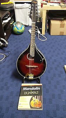 "Stagg Model M30 ""A"" Style Mandolin with stand and 'Mandolin for Dummies Book'"