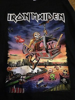 Iron Maiden XL Rare O2 London Event T Shirt Dated The Book Of Souls Tour 2017