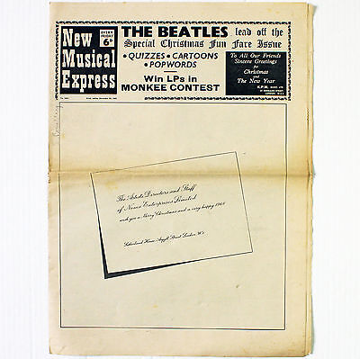 NME New Musical Express - No. 1093 December 23 1967 Beatles Christmas Issue