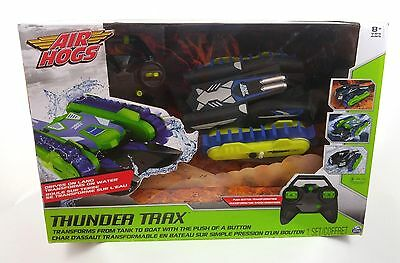 Air Hogs Thunder Trax Rc control Remote tank to boat Vehicle Toy boys