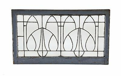 Early 20Th C. All-Beveled And Leaded Clear Glass Residential Transom Window