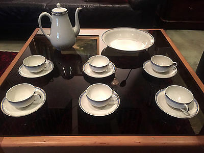 RAYNAUD & Co. LIMOGES, FRANCE - ART DÉCO - KAFFEE-SERVICE 6 Pers. 14 tlg.