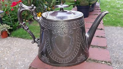 Antique Ornate Silver Plated  Coffee & Tea pot