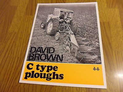 David Brown C Type Plough Brochure Leaflet Match Tractor Ransomes Conventional