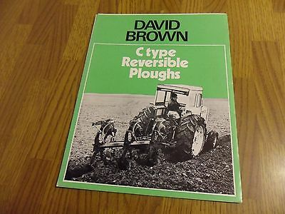 David Brown C Type Plough Brochure Leaflet Match Tractor Ransomes Reversible DB