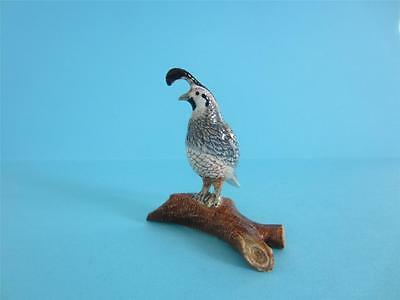 NORTHERN ROSE BIRD - QUAIL ON BRANCH FIGURINE SO NICE *Mint Condition*