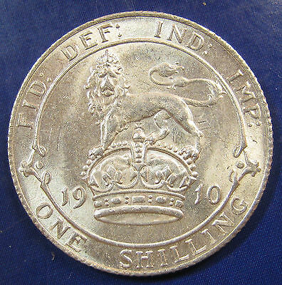 1910 1/- Edward VII silver Shilling in an exceptional aUNC