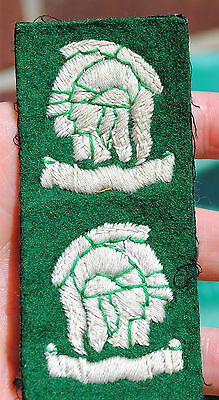 Uncut pair 163rd Infantry officers cadet training unit (artists rifles) patches