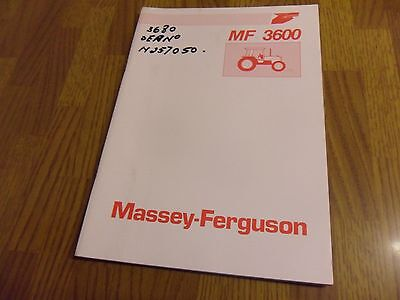 Massey Ferguson 3600 Series Operators Manual Instruction Book