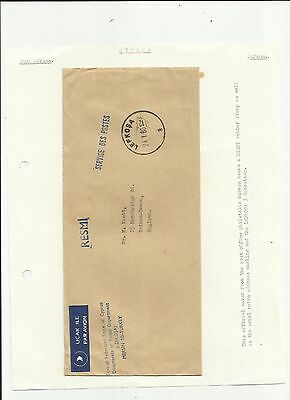 Cyprus 1980 Lefkosa official airmail  cover written up