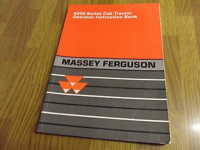 Massey Ferguson 4200 Series Operators Manual Instruction Book