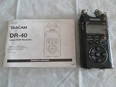 Tascam DR-40 4-Track Portable Digital Recorder W/ Manual & 4GB Memory Card
