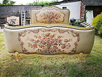 Vintage French Demi Corbeille Louis XV Style Double Bed