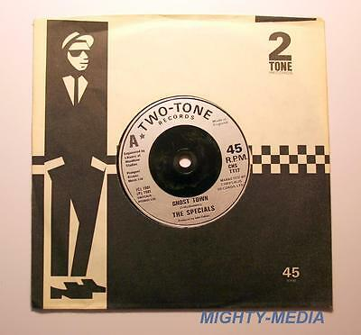 """THE SPECIALS  - GHOST TOWN - 7"""" Vinyl Record + Sleeve : NR MINT (m100 )"""