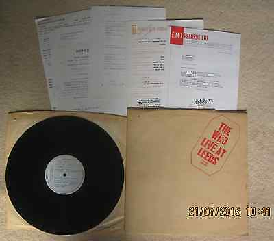 The Who Live at Leeds LP 2406