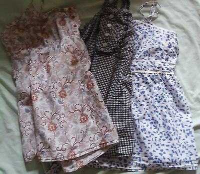 Ladies summer strappy festival tops, size 22 bundle of three