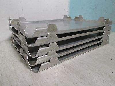 """Lot Of 5 """"stainless Incorporated"""" Commercial H.d.stackable Frozen Food Thaw Tray"""