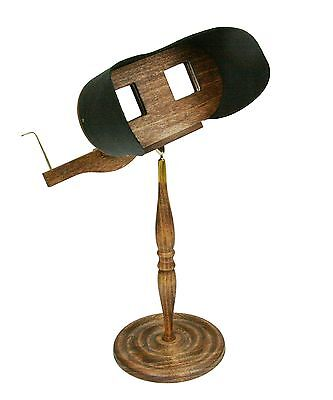 Stereoscope Holmes Viewer with Pedestal ASSEMBLED for StereoCards and Prints