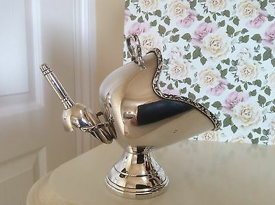 Vintage Silver Plated Coal Scuttle & Scoop Sugar Bowl