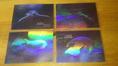 Star Trek Tng 30Th Anniversary Hologram Chase Set Cards 01 H - 04 H Rare