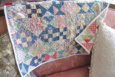 VTG Farm House Country Cottage Quilt Table Runner Dresser Scarf Feed Sack Fabric