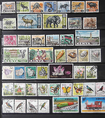 Kenya Used Stamp Collection (60 Stamps ,2 Scans)