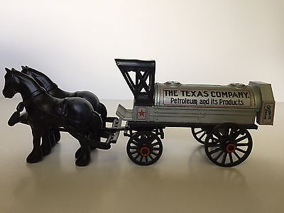Collectible ERTL Die-Cast Horses and Tanker Coin Bank - Texaco 8th in Series