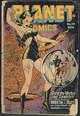 PLANET COMICS  39  FR/1.5  -  Rare issue from 1945!