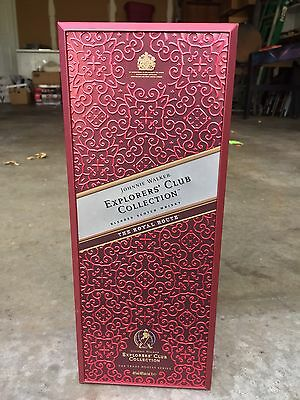 """Johnnie Walker Explorers' Club Collection """"the Royal"""" Bottle & Case"""