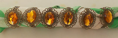 Vintage Napkin Rings With YelloiwStone