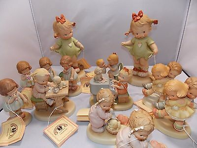 "Lot of 13 Mixed Memories Of Yesterday Figurines Boys and Girls 5 to 10"" all New"