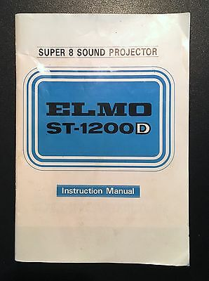 FREE SHIPPING! *** ORIGINAL Elmo ST-1200D Projector Instruction Manual
