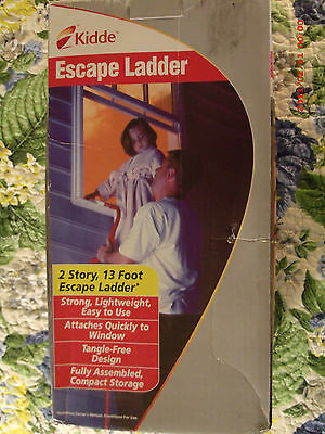 Kiddie Escape Ladder 2 Story 13 Foot Feet Fire Safety Window Mounted Fire *New**