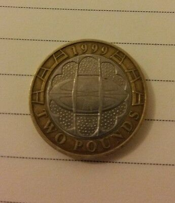 Rare Collectable 1999 Two Pound Coin Rugby World Cup £2