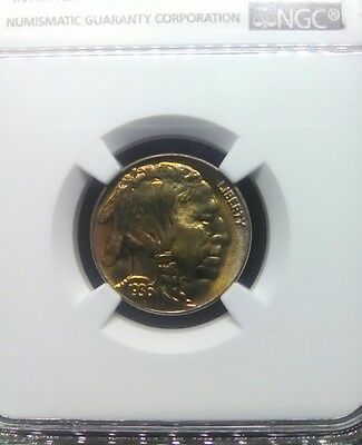 1936 Buffalo Nickel 5C MS 66 Toned!