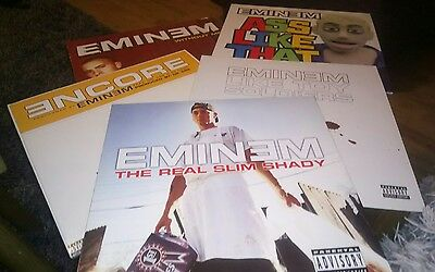 "Eminem Real Slim Shady 12"" Vinyl Bundle Encore/Without Me/Toy Soldiers/Ass Like"