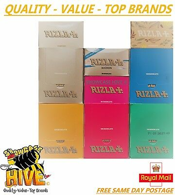 1,5,10,20,50,100 Rizla Regular Standard Cigarette Rolling Papers - All Colours