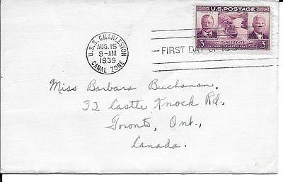 Scott #856 Panama Canal FDC - addressed no cachet