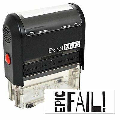 NEW ExcelMark EPIC FAIL! Self Inking Rubber Stamp A2359 | Black Ink