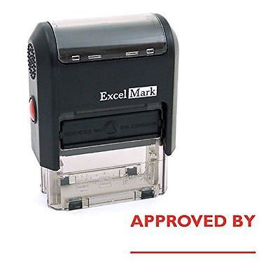 NEW ExcelMark APPROVED BY Self Inking Rubber Stamp A1539 | Red Ink
