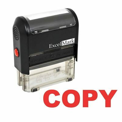 ExcelMark COPY Self Inking Rubber Stamp A1539 | Red Ink