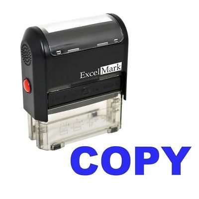 NEW ExcelMark COPY Self Inking Rubber Stamp A1539 | Blue Ink