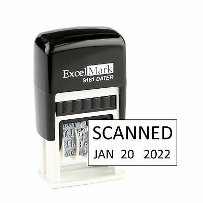 SCANNED - ExcelMark Self Inking Date Stamp S161 - Compact Size Black Ink