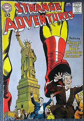 Strange Adventures #112 - Menace of the Size-Changing Spaceman! Space Museum!