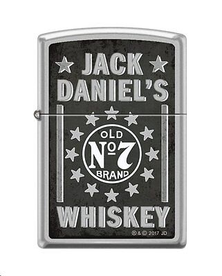 Zippo 7477, Jack Daniel's Tennessee Old No. 7 Whiskey, Satin Chrome Lighter