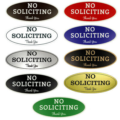 No Soliciting Sign - Laser Engraved Sign