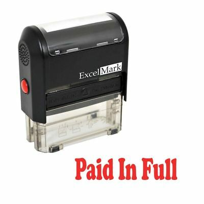 PAID IN FULL - ExcelMark Self Inking Rubber Stamp A1539 - Red Ink