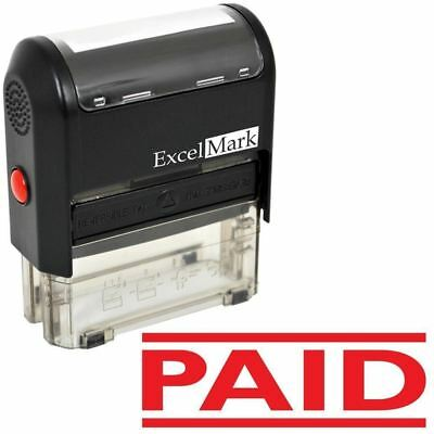 ExcelMark PAID Self Inking Rubber Stamp A1539 | Red Ink