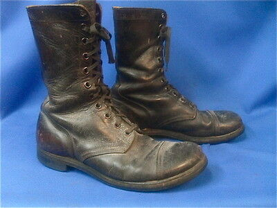 WWII US Army Leather Combat Boots Jump Boots  X-Large size 12E wide