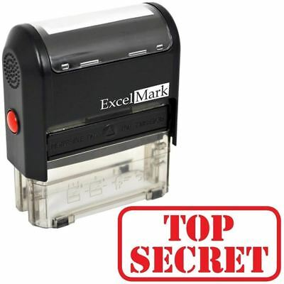 NEW ExcelMark TOP SECRET Self Inking Rubber Stamp A1539 | Red Ink
